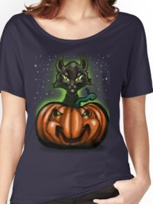Black Cat Tee Women's Relaxed Fit T-Shirt