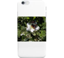 White Flowers and Weird Butterflies iPhone Case/Skin
