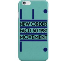 Movement- New Order iPhone Case/Skin