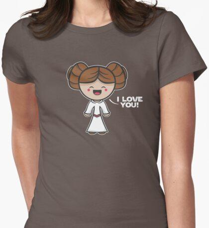 Kawaii I Love You Womens Fitted T-Shirt