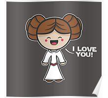 Kawaii I Love You Poster