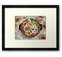 SIMPLE SALAD Framed Print