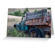 Blue Truck Greeting Card