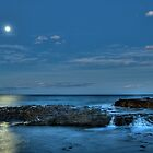 Twilight Moonrise Wollongong by Stephen Balson