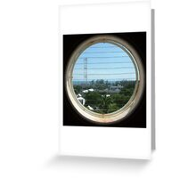 Round Window Squared Greeting Card
