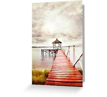 The Red Dock Greeting Card