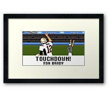 Tecmo Bowl Touchdown Tom Brady Framed Print