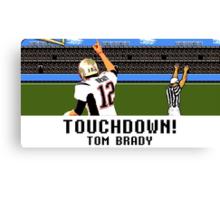 Tecmo Bowl Touchdown Tom Brady Canvas Print