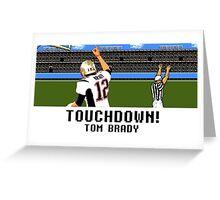 Tecmo Bowl Touchdown Tom Brady Greeting Card