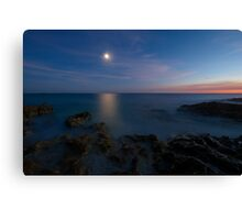attraction of moon reflection Canvas Print