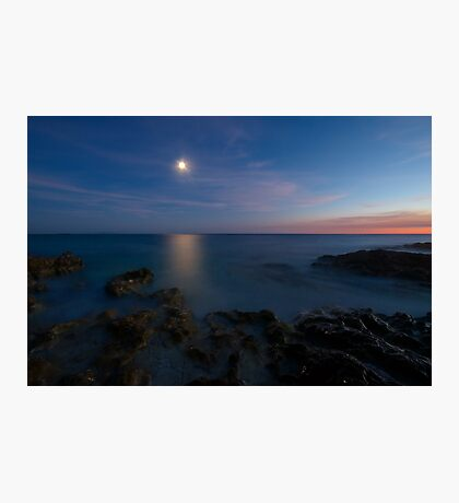 attraction of moon reflection Photographic Print