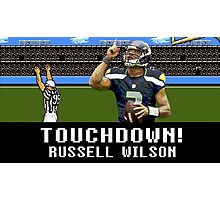 Tecmo Bowl Touchdown Russell Wilson Photographic Print