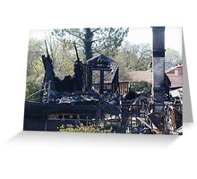 House Burned Down Greeting Card