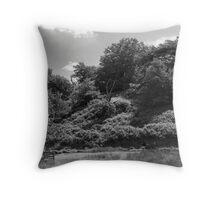 Hillside trees Throw Pillow