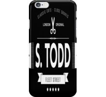 S. TODD's Barber Shop  iPhone Case/Skin