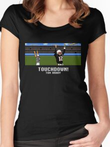 Tecmo Bowl Touchdown Tom Brady Women's Fitted Scoop T-Shirt