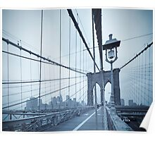 Brooklyn Bridge over East River. New York City. Poster