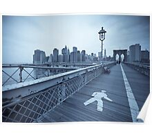 Brooklyn Bridge over East River. New York City. (Alan Copson ©) Poster