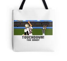 Tecmo Bowl Touchdown Tom Brady Tote Bag