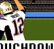 Tecmo Bowl Touchdown Tom Brady Sticker