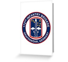 172nd Infantry Grafenwohr Greeting Card