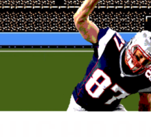 Tecmo Bowl Touchdown Rob Gronkowski Sticker