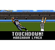 Tecmo Bowl Touchdown Marshawn Lynch Photographic Print