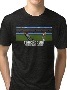 Tecmo Bowl Touchdown Marshawn Lynch Tri-blend T-Shirt