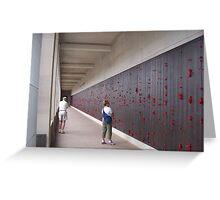 War Memorial Wall Greeting Card