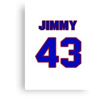 National baseball player Jimmy Haynes jersey 43 Canvas Print