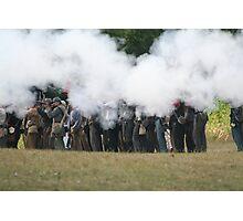 The Rebels Firing Their  Guns Photographic Print