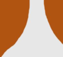 Brown and White Pittie Sticker