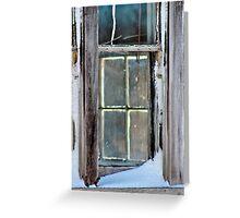 A Window on a Window Greeting Card