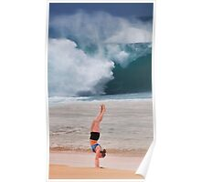 Gymnast at Pipeline. Poster
