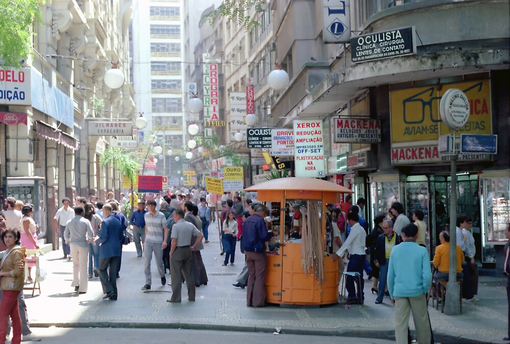 Downtown Sao Paulo, Brazil - 1982 (4) by SteveOhlsen