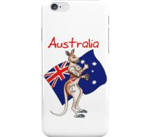 Possibly the best Australia or Austrlia Day Shirt design ever! Go the thumbs up tattooed kangaroo! iPhone Case/Skin
