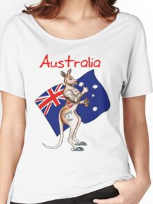 Possibly the best Australia or Austrlia Day Shirt design ever! Go the thumbs up tattooed kangaroo! Women's Relaxed Fit T-Shirt