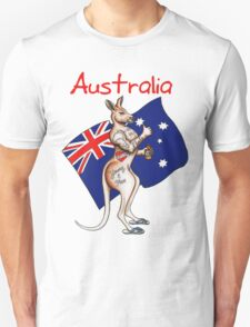 Possibly the best Australia or Austrlia Day Shirt design ever! Go the thumbs up tattooed kangaroo! T-Shirt