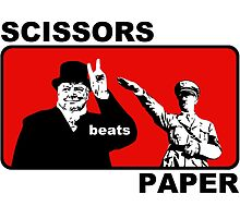 Scissors beats paper  by Wild23
