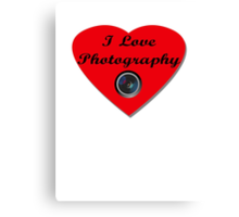 I Love Photography Shirt and Sticker Canvas Print