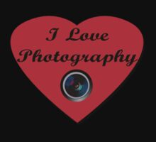 I Love Photography Shirt and Sticker Kids Clothes