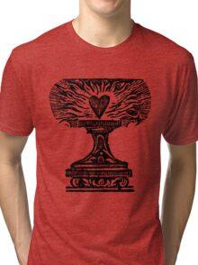 Black Heart Flame Tri-blend T-Shirt