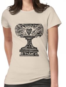 Black Heart Flame Womens Fitted T-Shirt