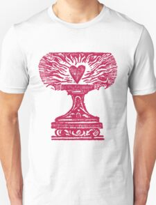 Red Heart Flame Unisex T-Shirt