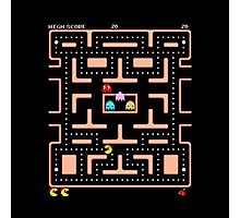 Original Ms. PacMan - Video Game Gamer Vintage Retro Black Arcade Photographic Print