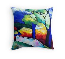 DOWN  THE  AVENUE Throw Pillow