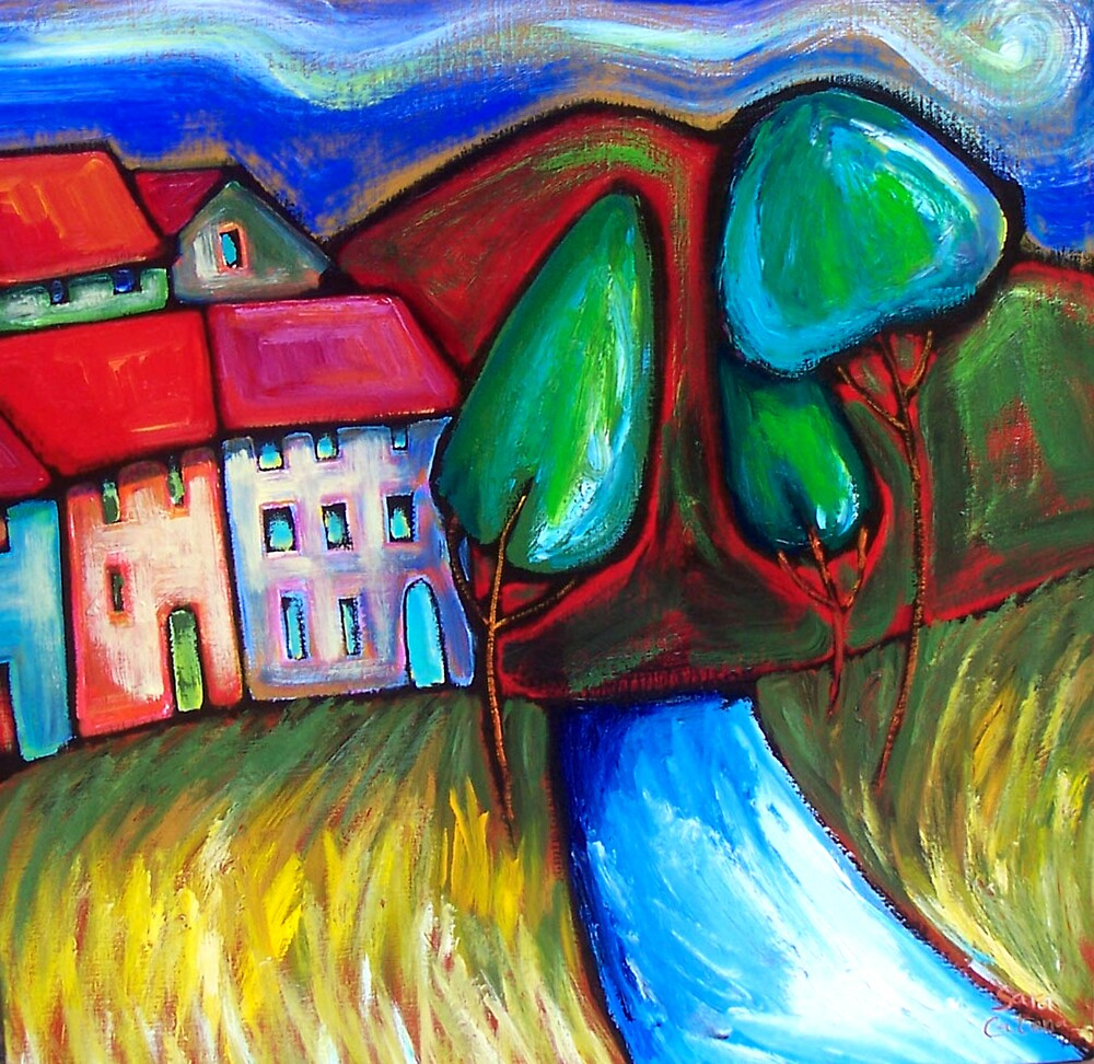 SUNDAY  DRIVE  TO  RED  HILL by ART PRINTS ONLINE         by artist SARA  CATENA