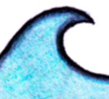 blue circle wave Sticker