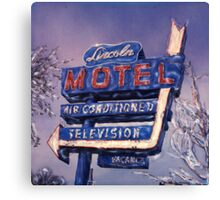 Lincoln Motel Canvas Print