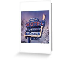 Lincoln Motel Greeting Card